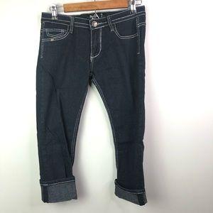 Women's dark wash Capri jeans Sz 7